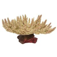Pink and Cream Stags Horn Coral Aquarium Ornament Fish Tank Aquatic Decoration